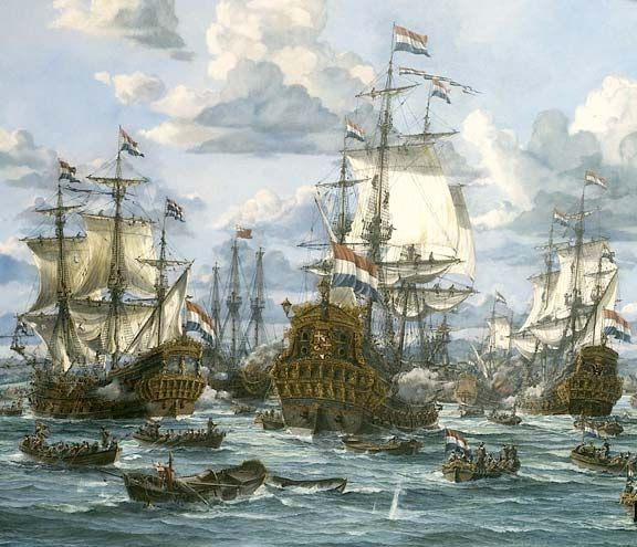Dutch battleships. Photograph by Oceans Discovery Archive