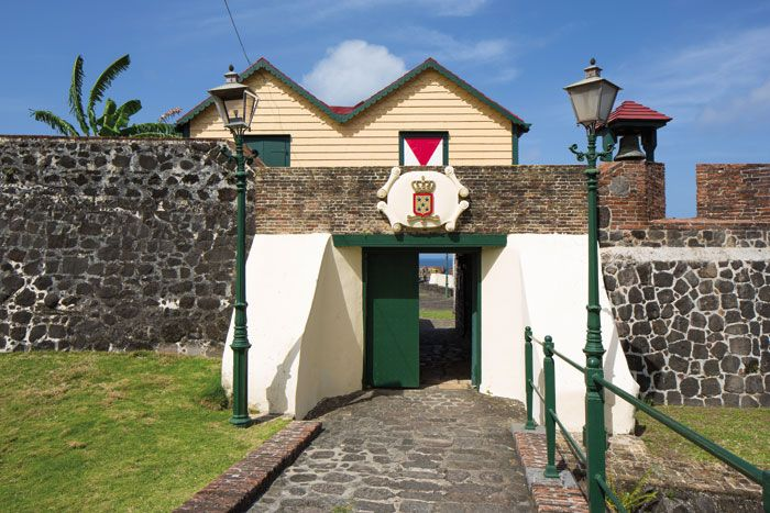 The gate of Fort Oranje. Photograph by Wyatt Gallery