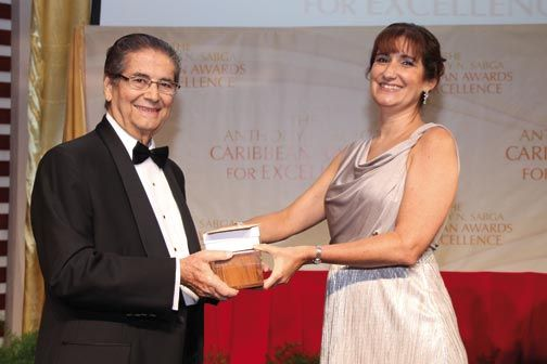 Last year Lucie-Smith was awarded the Anthony N. Sabga Caribbean Award for Excellence in Public and Civic Contributions. Photograph courtesy ALTA