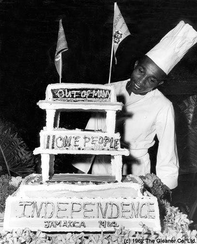 Cake created in honour of Jamaica's independence. Photograph by © The Gleaner Company Ltd (1962)
