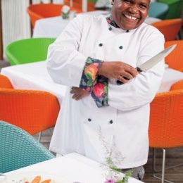 Janice Edwards, head cook at Mount Cinnamon boutique resort. Photograph by Joshua Yetman