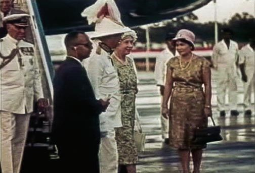 HRH The Princess Royal with Dr Williams and Sir Solomon at the airport. Photograph by © Information Division, Ministry of Foreign Affairs and Communications