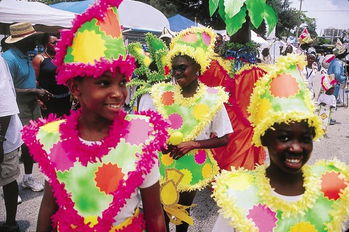 Enjoying the Bahamian Goombay Festival in Coconut Grove. Photograph provided by Greater Miami Convention & Visitors Bureau www.gmcvb.com
