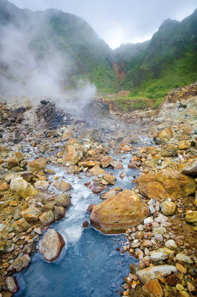 Dominica's Valley of Desolation, despite its name, may hold the key to the country's energy independence. Photograph by Images Dominica
