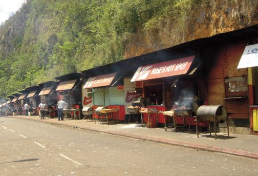 From jerk to traditional foods, Mount Diablo is the place to stop on the way to Ocho Rio. Photograph by Rosemary Parkinson