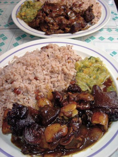 Cow foot with rice and peas. Photograph by Rosemary Parkinson