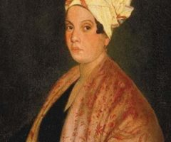 1920 painting of Marie Laveau (1794-1881) by Frank Schneider, based on an 1835 painting (now lost) by George Catlin. Photograph by Louisiana State Museum, New Orleans (Source Wikipedia)