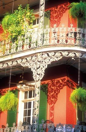 The French Creole architecture of New Orleans shares and aesthetic with Trinidad's nineteenth-century buildings. Photograph by Alex Demyan and Neworleansonline.com