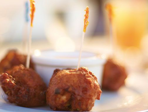 Piping hot conch fritters. Photograph courtesy the Bahamas Ministry of Tourism
