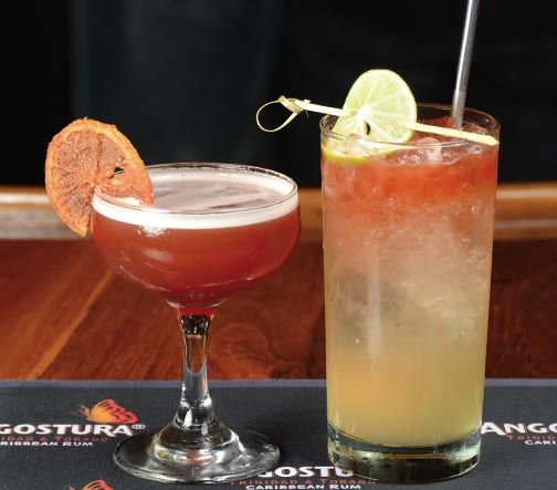 David Delaney Jr: Five Island Fizz (left) and On Second Thought (right). Photograph courtesy Angostura
