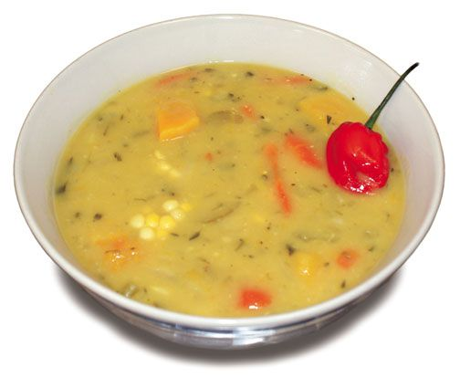 Corn soup. Photograph courtesy D Hot Shoppe