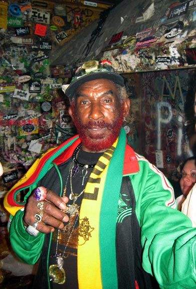 The wildly eccentric Lee Perry. Photograph by David Corio