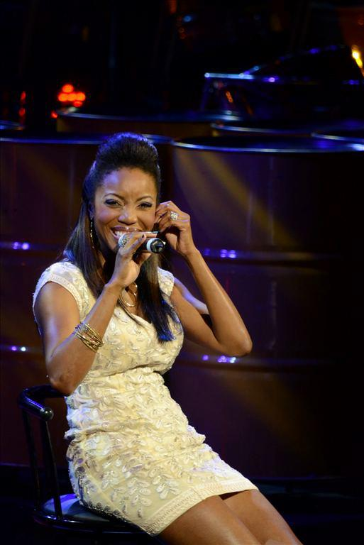 Heather Headley performing at her HOME concert in NAPA, Trinidad. Photograph by James Solomon, courtesy Heather Headley