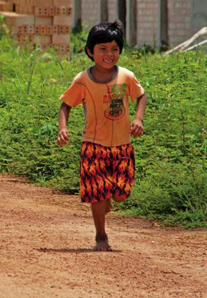 Amerindian child. Photograph by Terry Kuet