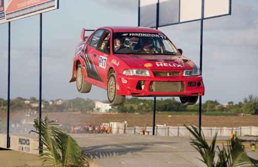 Sol Rally in the sunshine. Photograph courtesy Sol Rally Barbados