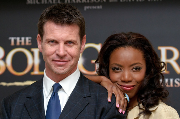 """Heather Headley with Lloyd Owen at the launch of """"The Bodyguard"""" musical in London. Photograph by Ben Pruchnie/Getty Images Europe (courtesy The Bodyguard)"""