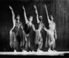 Arlene Richards, Melanie Graham, Alaine Grant, and Carole Orane Andrade performing Spirits at a Gathering, chor. Rex Nettleford; National Dance Theatre Company, 1998