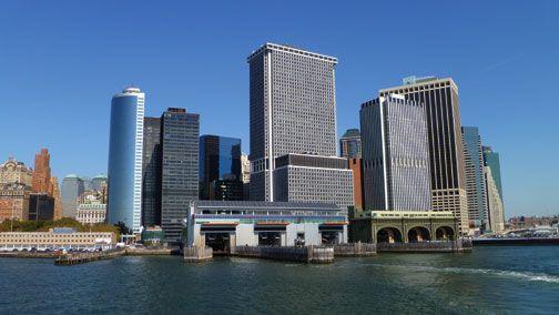 Manhattan from the Staten Island ferry. Photograph by Luke Raymond-Guillen