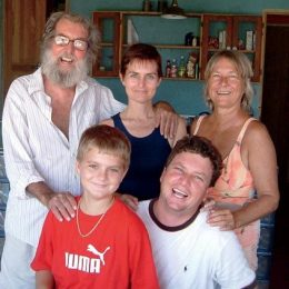 Perry, Sally, Justine, Jason, and Justine's son, Dylan. Photography courtesy Sally Henzell