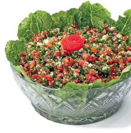 Parsley salad (Tabouleh). Photograph by Abigail Hadeed