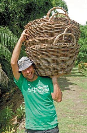 Dove hard at work on his Tobago Cocoa Estate. Photograph by Alex Smailes / Abovegroup Ogilvy