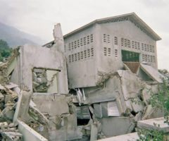 Earthquake damage to the orphanage. Photograph by Erik Feely