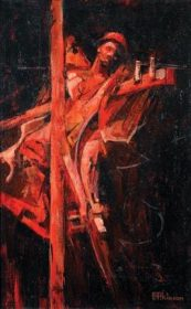 Emergency: Arthur Atkinson, oil on canvas, 1969. Photograph courtesy the Barbados National Art Gallery Committee
