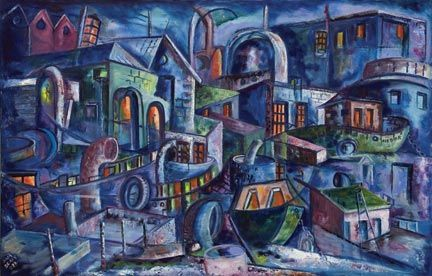The Careenage: Samuel Sealy, oil on canvas, 2003. Photograph courtesy the Barbados National Art Gallery Committee