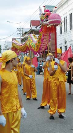 Chinese parade highlighting the diverse cultures celebrated in Suriname. Photograph courtesy The Suriname Tourism Foundation