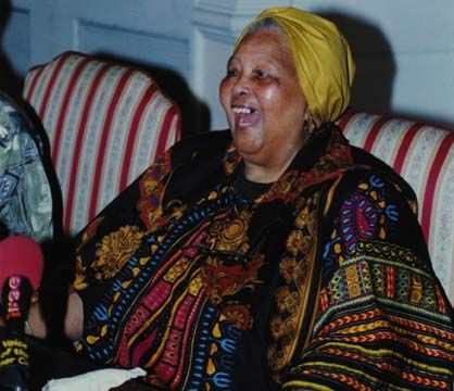 Miss Lou on her last trip to Jamaica in 2003. Photograph courtesy the Jamaica Gleaner Company