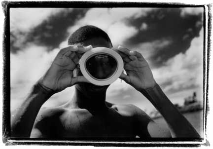 Glass eye: As the observer, the photographer is pure awareness and pure attention. Photograph by Abigail Hadeed