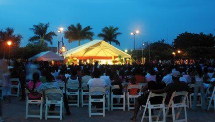 Enjoying an open-air concert. Photograph by Varun Baker
