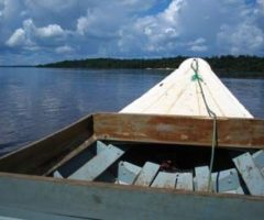 Down the Mazaruni, the biggest tributary of the Essequibo. Photograph by Nicholas Laughlin