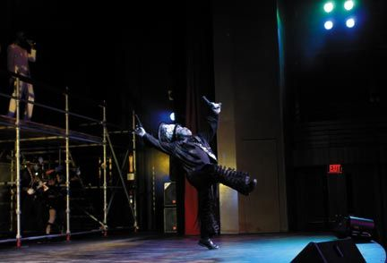 Michael Cherrie as the Midnight Robber in the 2007 3Canal Bacchanal Show. Photograph by Jason Hagley