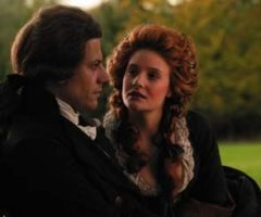 Ioan Gruffudd as William Wilberforce and Romola Garai as Barbara Spooner in Michael Apted's Amazing Grace. Photograph by Murray Close © 2006 Bristol Bay Productions LLC