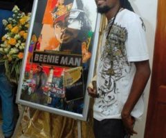 Beenie Man, at the launch of his biography in Jamaica last year. Photograph courtesy Great House Omnimedia Ltd