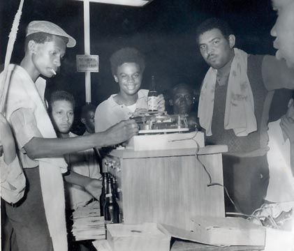 Sound System Selectors at the controls (c 1969). Photograph courtesy of Jamaica Gleaner Co.,
