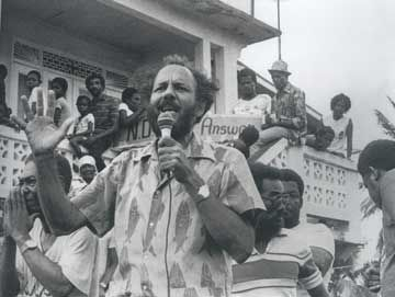 Campaigning in St Vincent, 1984. Photograph courtesy Macmillan Caribbean