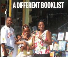 From right, A Different Booklist owner and children`s author Itah Sadu, with choregrapher Tamala Matthews and her husband Dwayne Morgan, author and award-winning poet. Photograph courtesy Ron Fanfair
