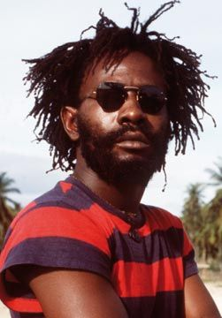 Burning Spear at home in St Ann`s, Jamaica. Photograph by UrbanImage.tv/Adrian Boot