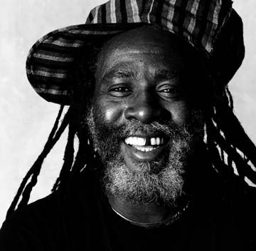 Burning Spear in a London studio, 1992. Photograph by UrbanImage.tv/Tim Barrow