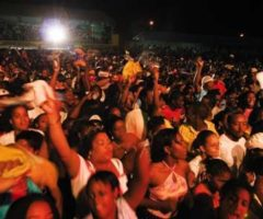 An enthusiastic audience at the 2005 St Lucia Jazz Festival. Photograph courtesy the St Lucia Tourist Board