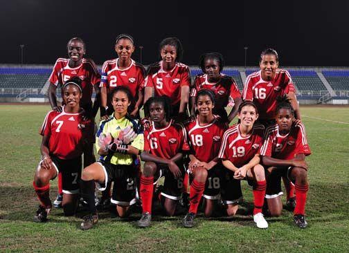 Trinidad and Tobago's U17 women's football team. Photograph courtesy FIFA U17 Women's World Cup Trinidad