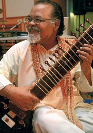 Mungal Patasar, sitarist. Photograph by Andrea de Silva
