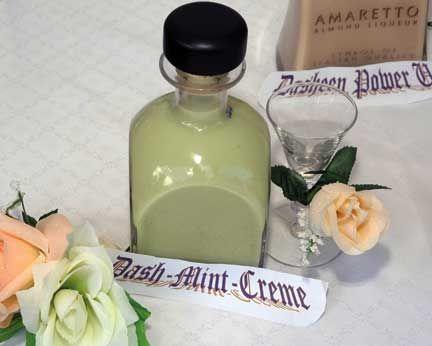 Dash mint creme, a creme de menthe-flavoured liqueur. Photograph by Oswin Browne