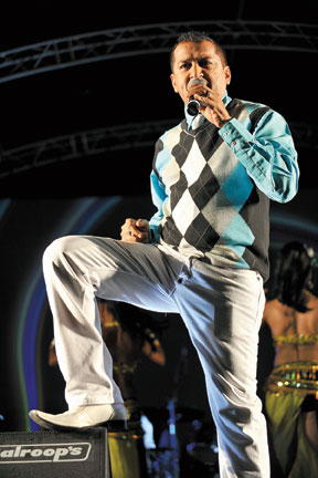 Rikki Jai, the winner of the 2011 Chutney Soca Monarch competition. Photograph by David Samson