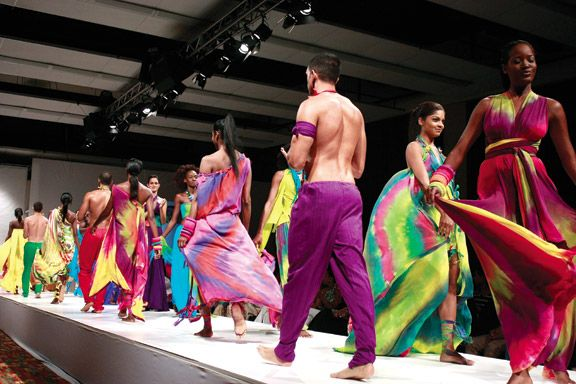 Peter Elias's 2009 collection at FWTT. Photograph by Edison Boodoosingh