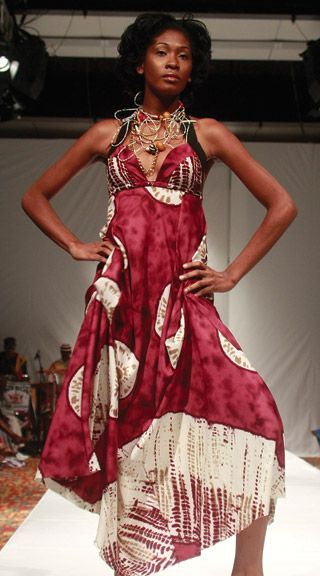 A design from Anya Ayoung-Chee's label, Pilar. Photograph by Edison Boodoosingh