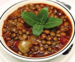 An easy meal, stewed pigeon peas can be eaten on its own or as an accompaniment to any dish. Photograph by Shirley Bahadur