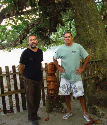 Piero Guerrini, left, owner of Mt Plaisir Estate Hotel, and Eric Hawk. Photograph by Piero Guerrini